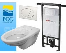 ALCAPLASTEP Závěsný WC komplet do bytových jader